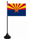 Arizona Desk / Table Flag with plastic stand and base.